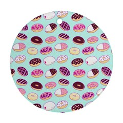 Donut Jelly Bread Sweet Round Ornament (two Sides) by Mariart