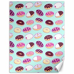 Donut Jelly Bread Sweet Canvas 12  X 16   by Mariart