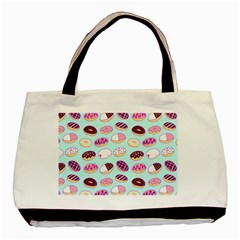 Donut Jelly Bread Sweet Basic Tote Bag (two Sides) by Mariart