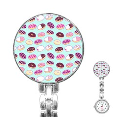 Donut Jelly Bread Sweet Stainless Steel Nurses Watch by Mariart