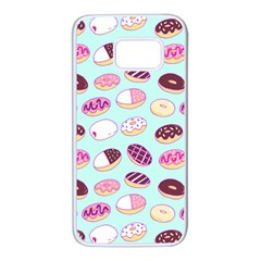 Donut Jelly Bread Sweet Samsung Galaxy S7 White Seamless Case by Mariart