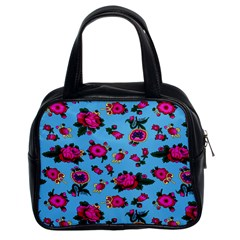 Crown Red Flower Floral Calm Rose Sunflower Classic Handbags (2 Sides) by Mariart