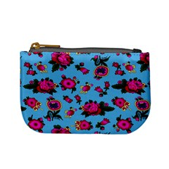 Crown Red Flower Floral Calm Rose Sunflower Mini Coin Purses by Mariart