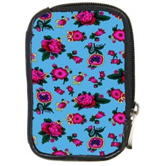 Crown Red Flower Floral Calm Rose Sunflower Compact Camera Cases by Mariart