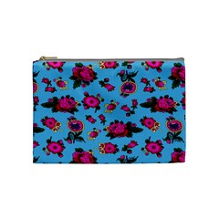 Crown Red Flower Floral Calm Rose Sunflower Cosmetic Bag (medium)  by Mariart