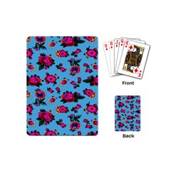 Crown Red Flower Floral Calm Rose Sunflower Playing Cards (mini)  by Mariart