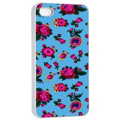 Crown Red Flower Floral Calm Rose Sunflower Apple Iphone 4/4s Seamless Case (white) by Mariart