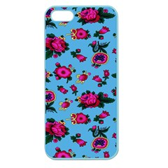 Crown Red Flower Floral Calm Rose Sunflower Apple Seamless Iphone 5 Case (color) by Mariart