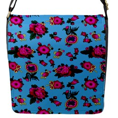 Crown Red Flower Floral Calm Rose Sunflower Flap Messenger Bag (s) by Mariart