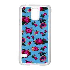 Crown Red Flower Floral Calm Rose Sunflower Samsung Galaxy S5 Case (white) by Mariart