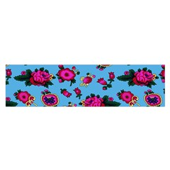 Crown Red Flower Floral Calm Rose Sunflower Satin Scarf (oblong) by Mariart