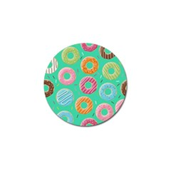 Doughnut Bread Donuts Green Golf Ball Marker (10 Pack) by Mariart