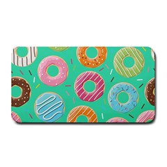 Doughnut Bread Donuts Green Medium Bar Mats by Mariart