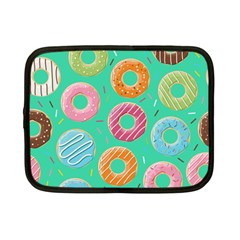 Doughnut Bread Donuts Green Netbook Case (small)  by Mariart
