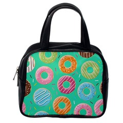 Doughnut Bread Donuts Green Classic Handbags (one Side) by Mariart