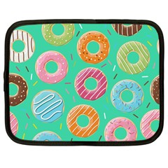 Doughnut Bread Donuts Green Netbook Case (xl)  by Mariart