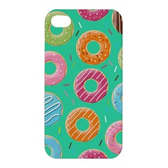 Doughnut Bread Donuts Green Apple Iphone 4/4s Hardshell Case by Mariart