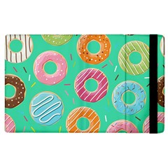 Doughnut Bread Donuts Green Apple Ipad 3/4 Flip Case by Mariart