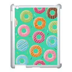 Doughnut Bread Donuts Green Apple Ipad 3/4 Case (white) by Mariart