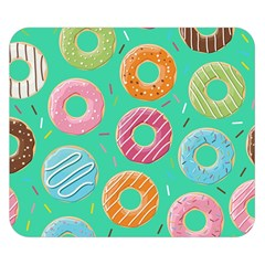 Doughnut Bread Donuts Green Double Sided Flano Blanket (small)  by Mariart
