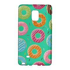 Doughnut Bread Donuts Green Galaxy Note Edge by Mariart