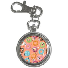 Doughnut Bread Donuts Orange Key Chain Watches by Mariart