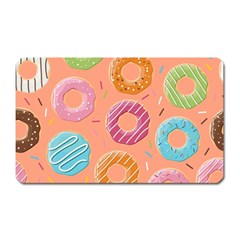 Doughnut Bread Donuts Orange Magnet (rectangular) by Mariart