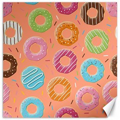 Doughnut Bread Donuts Orange Canvas 20  X 20   by Mariart