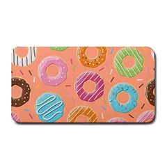 Doughnut Bread Donuts Orange Medium Bar Mats by Mariart