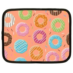 Doughnut Bread Donuts Orange Netbook Case (large) by Mariart