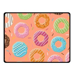 Doughnut Bread Donuts Orange Fleece Blanket (small)