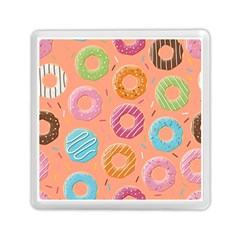 Doughnut Bread Donuts Orange Memory Card Reader (square)  by Mariart
