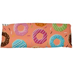 Doughnut Bread Donuts Orange Body Pillow Case Dakimakura (two Sides) by Mariart