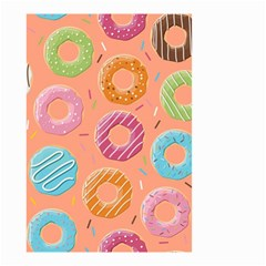 Doughnut Bread Donuts Orange Small Garden Flag (two Sides) by Mariart