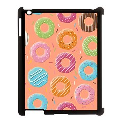 Doughnut Bread Donuts Orange Apple Ipad 3/4 Case (black) by Mariart