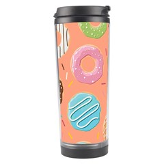 Doughnut Bread Donuts Orange Travel Tumbler by Mariart