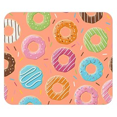Doughnut Bread Donuts Orange Double Sided Flano Blanket (small)  by Mariart