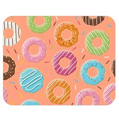 Doughnut Bread Donuts Orange Double Sided Flano Blanket (medium)  by Mariart