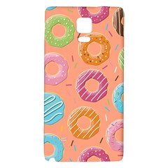 Doughnut Bread Donuts Orange Galaxy Note 4 Back Case by Mariart