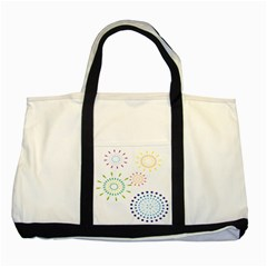 Fireworks Illustrations Fire Partty Polka Two Tone Tote Bag