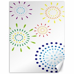 Fireworks Illustrations Fire Partty Polka Canvas 18  X 24   by Mariart