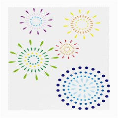 Fireworks Illustrations Fire Partty Polka Medium Glasses Cloth