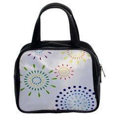 Fireworks Illustrations Fire Partty Polka Classic Handbags (2 Sides) by Mariart