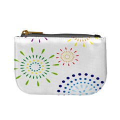 Fireworks Illustrations Fire Partty Polka Mini Coin Purses