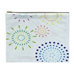 Fireworks Illustrations Fire Partty Polka Cosmetic Bag (XL) Front