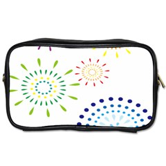 Fireworks Illustrations Fire Partty Polka Toiletries Bags by Mariart
