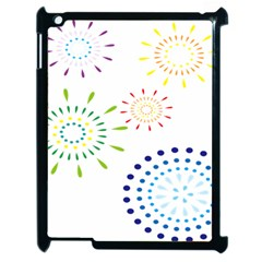 Fireworks Illustrations Fire Partty Polka Apple Ipad 2 Case (black) by Mariart