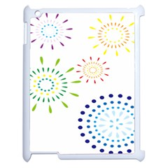 Fireworks Illustrations Fire Partty Polka Apple Ipad 2 Case (white) by Mariart