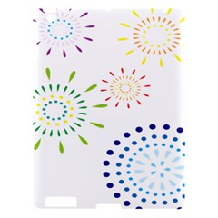 Fireworks Illustrations Fire Partty Polka Apple Ipad 3/4 Hardshell Case by Mariart