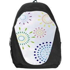Fireworks Illustrations Fire Partty Polka Backpack Bag by Mariart